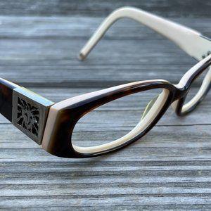 Anne Klein Women Eye glasses Frame Brown/Tan Eye W